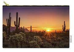 Carry-all Pouch featuring the photograph Rise And Shine Arizona  by Saija Lehtonen