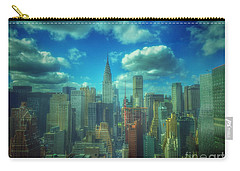 Rise And Shine - Chrysler Building New York Carry-all Pouch by Miriam Danar