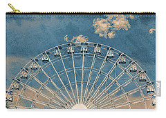 Rise Up Ferris Wheel In The Clouds Carry-all Pouch by Terry DeLuco