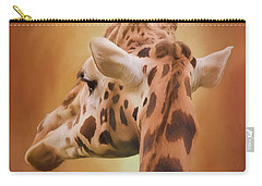 Rising Above - Giraffe Art Carry-all Pouch by Jordan Blackstone
