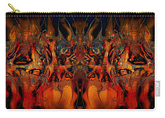 Carry-all Pouch featuring the digital art Rising by Kiki Art