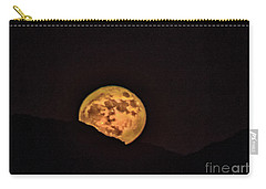 Carry-all Pouch featuring the photograph Rising Supermoon by Robert Bales