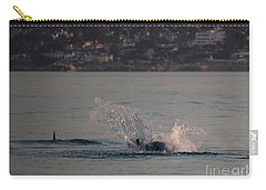 Risso's Dolphins At Play Carry-all Pouch by Suzanne Luft