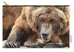 River Bed Grizzly Carry-all Pouch by Steve McKinzie