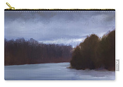 River Bend In Winter Carry-all Pouch