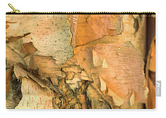 Carry-all Pouch featuring the photograph River Birch by Tom Singleton