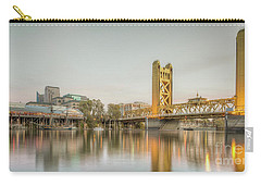 Carry-all Pouch featuring the photograph River City Waterfront by Charles Garcia