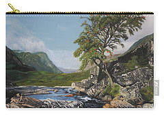 River Coe Scotland Oil On Canvas Carry-all Pouch