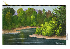 Carry-all Pouch featuring the painting River Confluence by Frank Wilson
