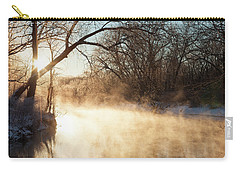 River Fog At Sunrise Carry-all Pouch