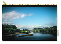 Carry-all Pouch featuring the photograph River Islands by Marvin Spates
