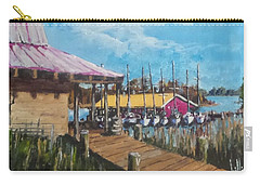 Carry-all Pouch featuring the painting River Marina by Jim Phillips