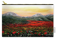 River Of Poppies Carry-all Pouch by Judy Kirouac