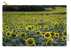 River Of Sunflowers Carry-all Pouch by Barbara Bowen