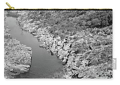 River On The Rocks. Bw Version Carry-all Pouch
