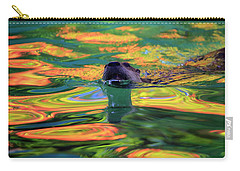 River Otter And Autumn Color Carry-all Pouch