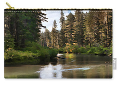 Carry-all Pouch featuring the painting Millers Creek Painterly by Peter Piatt