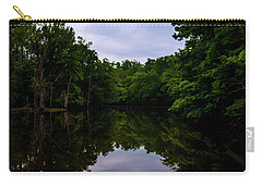 Carry-all Pouch featuring the digital art River Reflections by Chris Flees