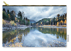 Carry-all Pouch featuring the photograph River Reflections by Fran Riley