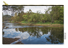 Carry-all Pouch featuring the photograph River Reflections by John M Bailey