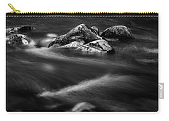 River Rock In Black And White Carry-all Pouch