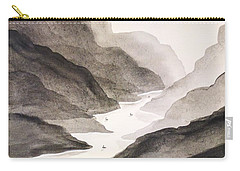 River Running Through Mountains Carry-all Pouch by Edwin Alverio