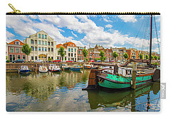 River Scene In Rotterdam Carry-all Pouch by Venetia Featherstone-Witty