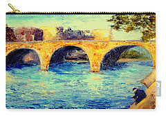 Carry-all Pouch featuring the painting River Seine Bridge by Gail Kirtz