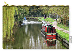 Carry-all Pouch featuring the photograph River Stort In April by Gill Billington