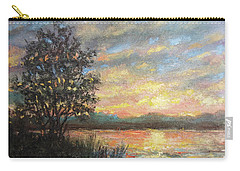 Carry-all Pouch featuring the painting River Sundown by Kathleen McDermott
