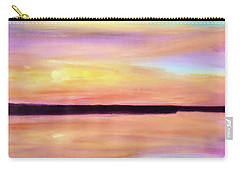 Carry-all Pouch featuring the painting River Sunset by Valerie Anne Kelly