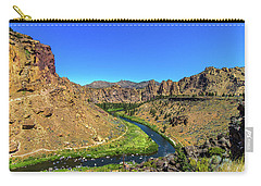 Carry-all Pouch featuring the photograph River Through Mountains by Jonny D