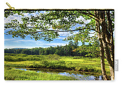 Carry-all Pouch featuring the photograph River Under The Maple Tree by David Patterson