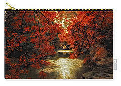 Riverbank Red Carry-all Pouch by Jessica Jenney
