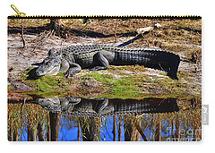 Carry-all Pouch featuring the photograph Riverside Reflection by Al Powell Photography USA