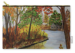 Carry-all Pouch featuring the painting Rivers Bend by Jack G Brauer
