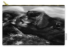Rivers Edge In Black And White Carry-all Pouch