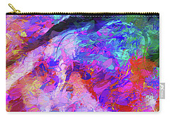 Carry-all Pouch featuring the digital art Rivers Of Love by Karo Evans