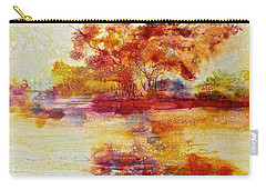 Riverscape In Red Carry-all Pouch
