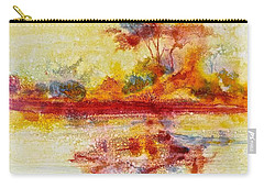 Riverscape In Red....part 2 Carry-all Pouch
