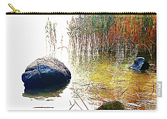Carry-all Pouch featuring the photograph Riverside Melody by Roger Bester