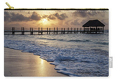 Riviera Sunrise Carry-all Pouch by Dennis Hedberg