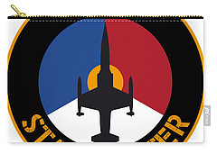 Carry-all Pouch featuring the painting Rnlaf F-104 Starfighter by Nop Briex