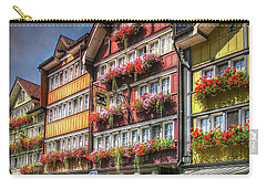 Carry-all Pouch featuring the photograph Row Of Swiss Houses by Hanny Heim