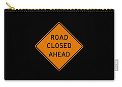 Road Closed T-shirt Carry-all Pouch by Herb Strobino