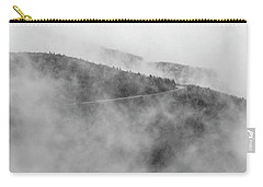 Road In Fog - Blue Ridge Parkway Carry-all Pouch