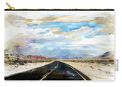Road In The Desert Carry-all Pouch