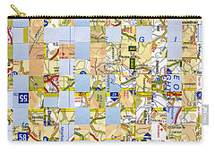 Carry-all Pouch featuring the mixed media Road Map by Jan Bickerton