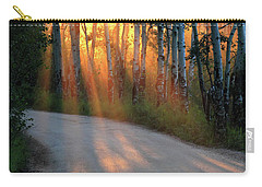 Carry-all Pouch featuring the photograph Road Rays by Shane Bechler