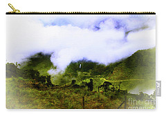 Carry-all Pouch featuring the photograph Road Through The Andes by Al Bourassa